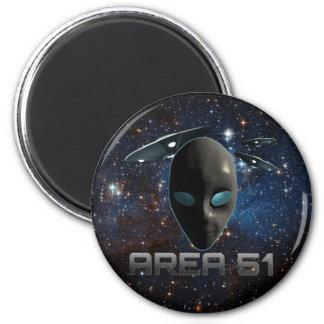 Area 51 6 cm round magnet