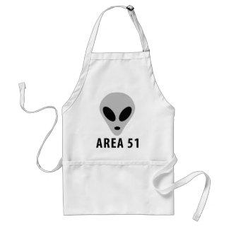 area 51 - alien head standard apron