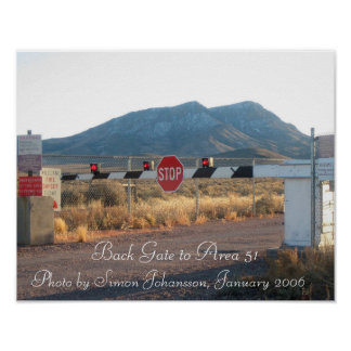 Area 51 Back Gate Photo Poster