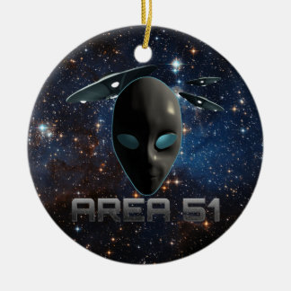 Area 51 christmas ornament