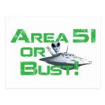 Area 51 or Bust! Postcard
