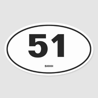 Area 51 oval sticker