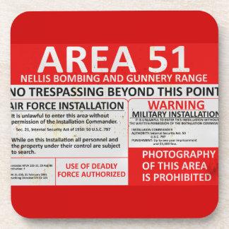 Area 51 Sign Coaster
