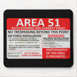 Area 51 Sign Mouse Pad