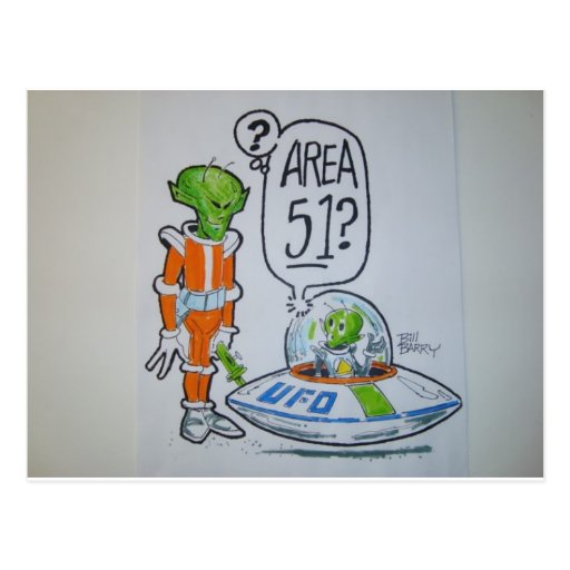 Area 51 spaceman post cards