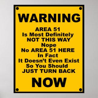 Area 51 Spoof Warning Print