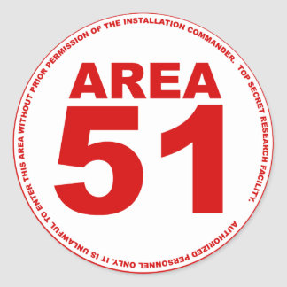 Area 51 Sticker