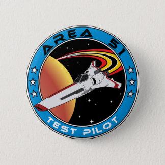 Area 51 Test Pilot 6 Cm Round Badge