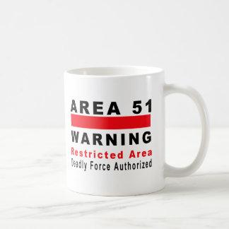 Area 51 Warning Basic White Mug