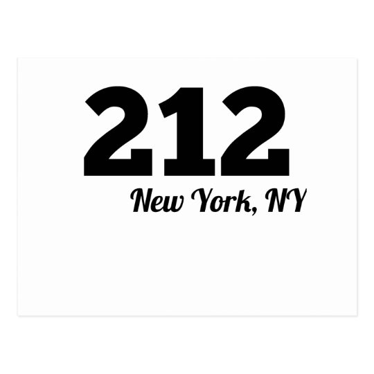 Area Code 212 New York NY Postcard