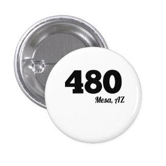 Area Code 480 Mesa AZ 3 Cm Round Badge