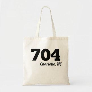 Area Code 704 Charlotte NC Budget Tote Bag