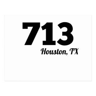 Area Code 713 Houston TX Postcard