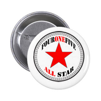 Area Code All Star - 415 San Francisco (red star) 6 Cm Round Badge