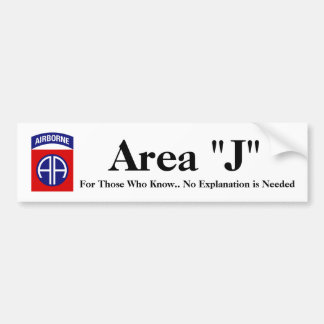 Area J Bumper Sticker