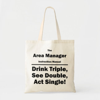 area manager canvas bag