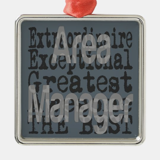 Area Manager Extraordinaire Christmas Ornament