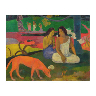 Arearea (The Red Dog), 1892 Wood Print