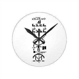 Arecibo Binary Message 1974 Round Clock