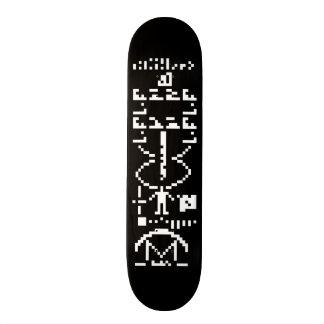 Arecibo Binary Message 1974 Custom Skate Board