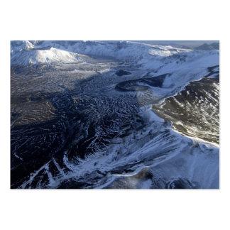areial view of aniakchak caldera alaska business cards