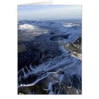 areial view of aniakchak caldera alaska cards
