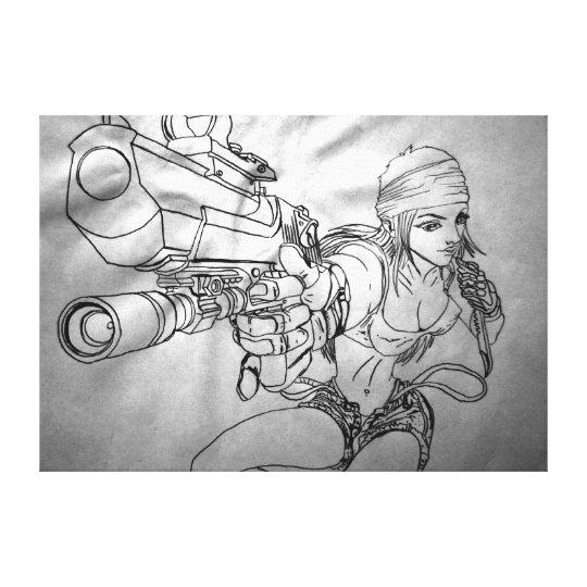 """Arek Art - Original Sketch Print - """"She's"""