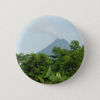 Arenal Volcano, Costa Rica. 6 Cm Round Badge