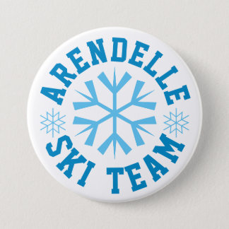 Arendelle Ski Team 7.5 Cm Round Badge