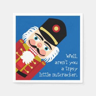 Aren't You a Tipsy Little Nutcracker Christmas Fun Disposable Napkin