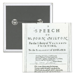 Areopagitica'  a speech of John Milton Pin