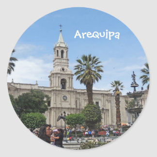 Arequipa - Plaza de Armas Round Stickers