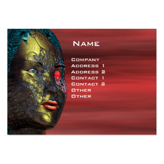ARES CYBORG  , Red Yellow Business Card Templates