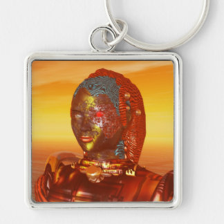 ARES IN THE DESERT OF HYPERION Silver-Colored SQUARE KEY RING