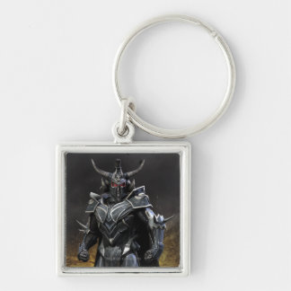 Ares Silver-Colored Square Key Ring
