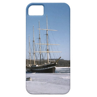 Arethusa in the frozeen river Medway iPhone 5 Case