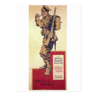 Arf a mo' Kaiser! (1914)_Propaganda Poster Postcard
