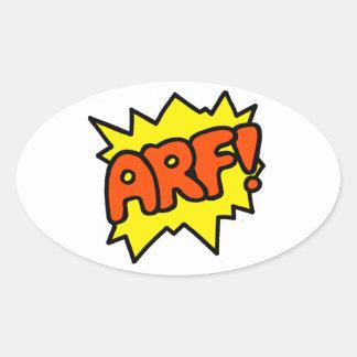 Arf! Oval Sticker