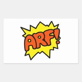 Arf! Rectangular Sticker