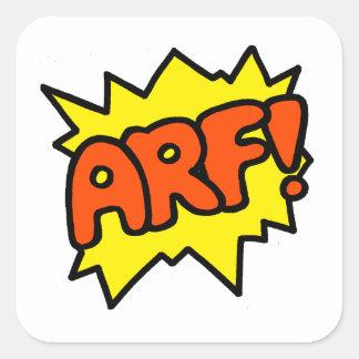 Arf! Square Sticker