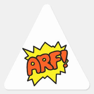 Arf! Triangle Stickers