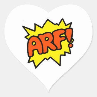 Arf! Heart Sticker