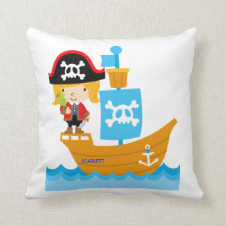 ARG Girl Pirate Pillow- Reversible Cushion