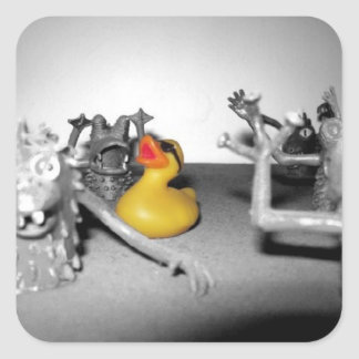'Arg! Monsters!' Rubber Duck Sticker