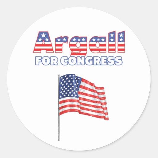 Argall for Congress Patriotic American Flag Round Sticker