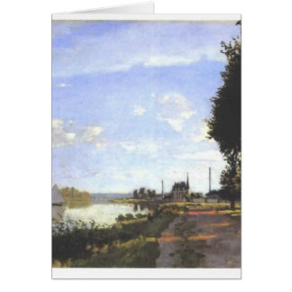 Argenteuil - Monet Painting Greeting Card