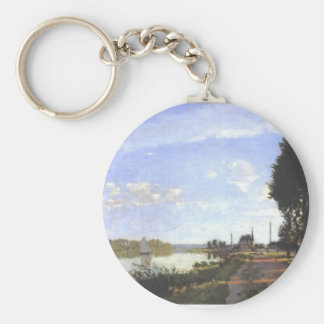 Argenteuil - Monet Painting Keychain