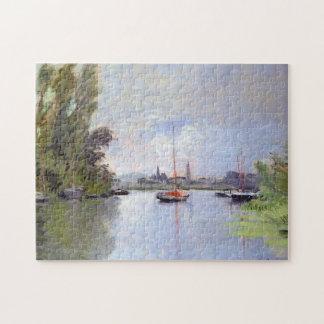 Argenteuil Small Arm Seine Monet Fine Art Jigsaw Puzzle