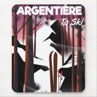 Argentière, France ski travel poster Mouse Mat
