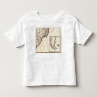 Argentina and Chile Engraved Map Toddler T-Shirt
